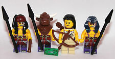 4 LEGO wild west characters 4 NATIVE AMERICAN - very rare parts shaman chief