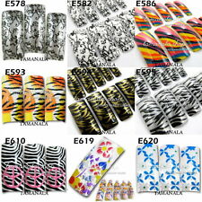 70 PCS  AIRBRUSHED Predesign  French NAIL ART Pattern FALSE Acrylic Tips Random
