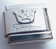 PRINCESS & CROWN Italian Charm 9mm for Classic Bracelet I Love My Daughter Tiara