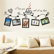 Family Tree Wall Decal Sticker Large Vinyl Photo Picture Frame Removable Black T