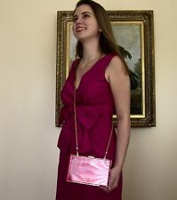 kate spade pink earrings + LUCITE PURSE Shoulder CLUTCH Bag Swarovski crystals