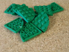 Lego city Friends Castle 10 x Green Plate, Round Corner 4 x 4   NEW