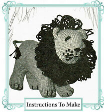 Vintage Knitting pattern- how to make this cute king of the jungle, leo the lion