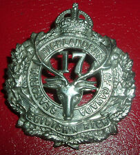 CAP BADGES-WW1 CANADIAN CEF 17th SEAFORTH HIGHLANDERS OF CANADA REF 17-2