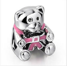 New European Silver Charm Bead Fit sterling 925 Necklace Bracelet Chain US dj1i4