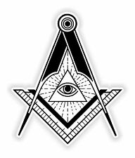Masonic Sticker Freemason for Bumper Religious Car Locker Fridge Book Door #03