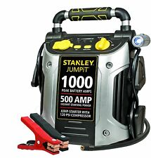 Stanley JC509 1000 Peak Amp Jump Starter with Compressor High-powered LED light