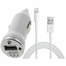 Cargador Coche 2 en 1 mechero Mini + cable para Iphone 6/6Plus 8 Pin blanco