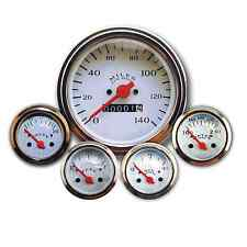 Southern Rods Mechanical Gauge Set Classic White 5 Gauge Veethree Instruments