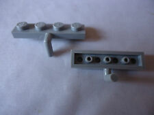 NEW LEGO LT BLUISH GREY  MODIFIED PLATE WITH DOWN ARM PART 30043 x 2