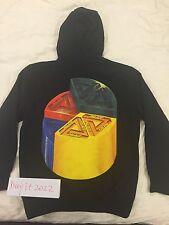 Brand New Palace HI Chart Hood Sweatshirts Black Size M Box Logo