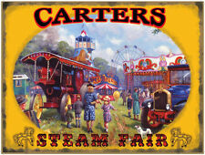 Showman's Steam Traction Engine, Foden Truck, Fairground, Large Metal/Tin Sign