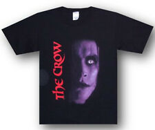 The Crow-Glow Eye Portrait-Medium  Black T-shirt