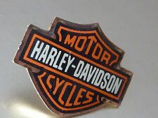 PIN'S MOTO HARLEY  DAVIDSON  MOTOR  CYCLES  SIGLE ORANGE