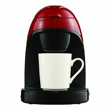 SINGLE SERVE ONE CUP COFFEE MAKER IN METALIC RED includes MUG