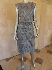 $99 Nine West Womens Sterling Gray Lace Sequined Party Cocktail Dress Sz 8 NWT