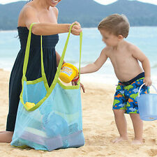 Kids Beach Toys Receive Bag Mesh Sandboxes Away Sandpit Storage Shell Net