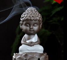 China Ru Kiln Lotus Incense Burner YueBai Color Buddhist Supplies