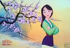 """DISNEY """"MULAN"""" LARGE ASIAN MOVIE POSTER - Fa Mulan Standing With Her Arms Folded"""