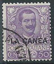 1905 LEVANTE LA CANEA USATO FLOREALE 50 CENT - W138-3