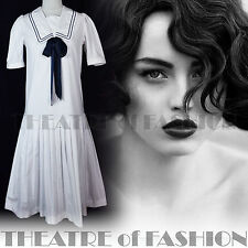 VINTAGE LAURA ASHLEY DRESS 20s GATSBY FLAPPER WEDDING 40s 30s VICTORIAN SAILOR
