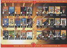 GRATIS COMIC TAG 2013 KOMPLETT alle 30 Hefte - BATMAN - MARVEL NOW - SIMPSONS