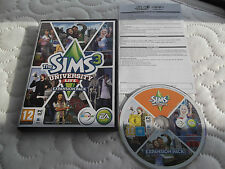 SIMS 3 UNIVERSITY LIFE EXPANSION PACK PC DVD-ROM SIMULATION V.G.C. FAST POST