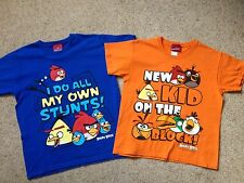 2 BOYS ANGRY BIRDS T SHIRTS  AGE 9-10 YEARS  HARDLY WORN