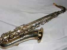1921 Conn New Wonder Silver Plated Pre-Chu Tenor Sax/Saxophone, Plays Great!