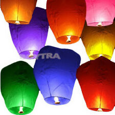 SP Light color Sky Lanterns Chinese Paper Sky Candle Fire Balloons Wedding LS
