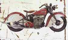 Indian Sport Scout 1940 Aged Vintage SIGN A4 Retro