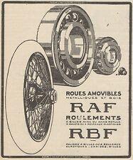 Z8644 Roules amovibles RAF - Pubblicità d'epoca - 1926 Old advertising