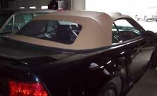 1994-2004 Mustang Convertible 1 Piece Vinyl top with Plastic Window - Saddle Tan