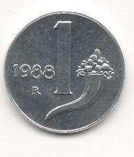 Moneta 1 Lira Cornucopia 1988 FDC REPUBBLICA ITALIA Italy CX86