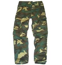 GREEN CAMO COMBAT TROUSERS boys 11-12 army soldier Military outdoor cargo pants