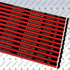 12 x Pencils Set STAEDTLER Tradition 110 4B Drawing Sketching Art Drafting Black