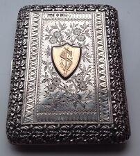 Stunning Victorian Silver & Gold Card Case / 1887 Hillard & Thomason