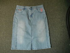 "Ditieni Denim Skirt Size 14 Length 24"" Faded Mediu Blue Ladies Denim Skirt"