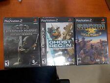 LOT 3 War themed PS2 games. Ghost Recon,Airborne Troops,Socom *Brand New!*