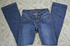 Urban Behavior Straight Leg Blue Denim Jeans size 00/24 EUC 25 x 32