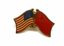 US and China Flag Lapel Pin / US & China Pin