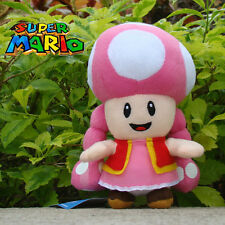 """Toadette 7"""" Super Mario Bros Plush Toy Game Collectible Stuffed Animal Doll"""