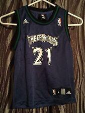 Adidas NBA Minnesota Timberwolves Kevin Garnett #21 youth jersey size Large(7)