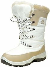 NEW Women's Winter Boots Snow Fur Faux Warm Insulated Zipper Shoes White Size 10