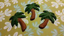 Edible Cake/Cupcake Decorations - 12 Palm Trees - Sugarpaste Toppers