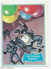 1966 Topps Batman Blue Bat with Bat Cowl Back (2B) The Penguin Prevails