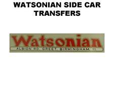 Watsonian carrozzino pannello porta trasferimenti Decalcomanie Adesivo Moto BSA NORTON AJS