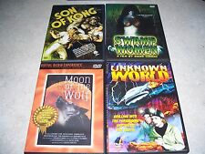 DVD Lot: Son of Kong, Swamp Women, Unknown World, Moon of the Wolf, Konga
