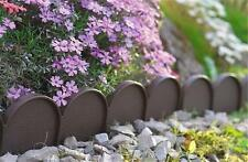 Plastic Garden Fence Panels Boarder Lawn Palisade Edge Patio Fencing BROWN KRA