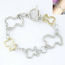 New Women's Girl Cartoon Bear Bangle Alloy Animal Chain Bracelet Jewelry